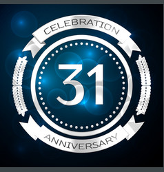thirty one years anniversary celebration with vector image vector image