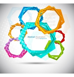 abstract background with colorful hexagon vector image vector image