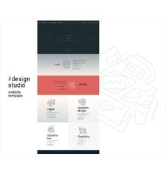 Design studio website template vector image vector image