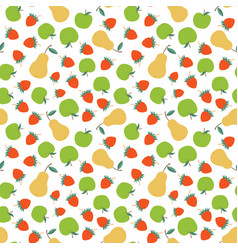 Fruits seamless pattern vector