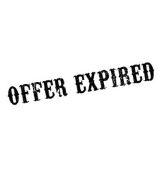 offer expired rubber stamp vector image