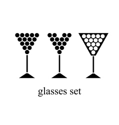 set of wine glasses vector image vector image