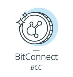 bitconnect cryptocurrency coin line icon of vector image vector image