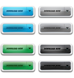 download button set vector image vector image