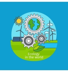 Ecology in the world concept vector image vector image