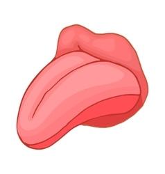 Human tongue icon cartoon style vector image