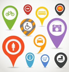 Navigation elements with transport icons vector image vector image
