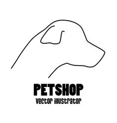 pet shop concept silhouette dog vector image