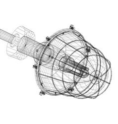 Xray of heat exchanger vector