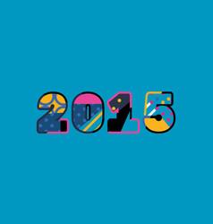 2015 concept word art vector