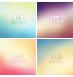 Abstract colorful blurred backgrounds set 17 vector