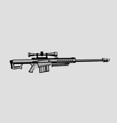 Antimaterial sniper rifle vector