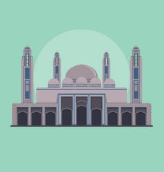 bahria town mosque - pakistan vector image