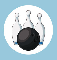 Ball and pins bowling vector