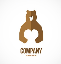 bear with heart vector image