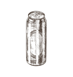 beer in aluminum can sketch vector image