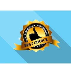 Best Choice Label Icon vector image