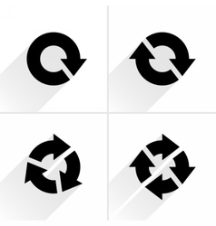 Black arrow loop refresh reload rotation icon vector