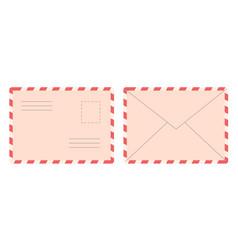 blank postal retro old style envelope letter vector image