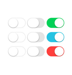 button switch toggle slider ui slide off or turn vector image