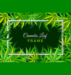 Cannabis leaf frame vector