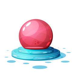cartoon magic ball on the white vector image