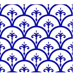 Ceramic pattern seamless background vector