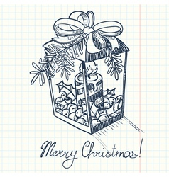 Christmas doodle decoration vector