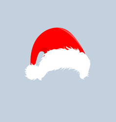 Christmas red hats icon santa claus costume vector