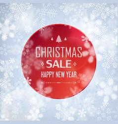 christmas sale stylish poster vector image