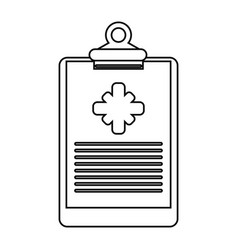 clipboard medical report clinic thin line vector image