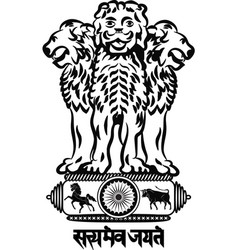 Coat of arms of india vector