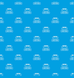 conditioner pattern seamless blue vector image