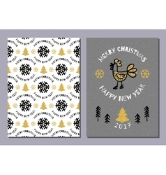 creative holiday postcard merry christmas vector image