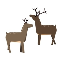 Cute cartoon deer vector image