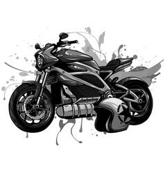 design motorbike with helme vector image