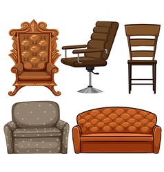 Different design of chairs vector