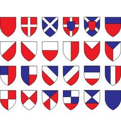 Divisions shield vector