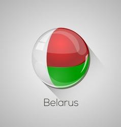 European flags set - Belarus vector image