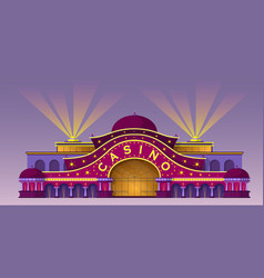 facade of a casino building vector image