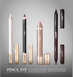 fashionable cosmetic products for eyes set vector image