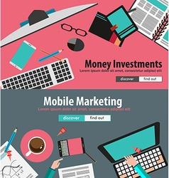Flat Design Concepts for business planning and vector image
