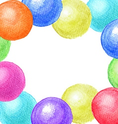 Frame of watercolor balls vector