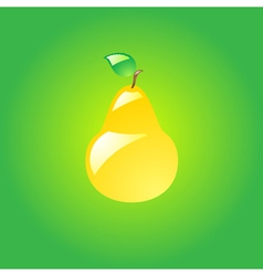 Glossy pear vector image