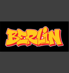 Graffiti style lettering text design vector