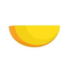 half of mango icon flat style vector image