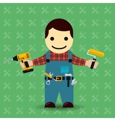 Handyman or mechanic vector