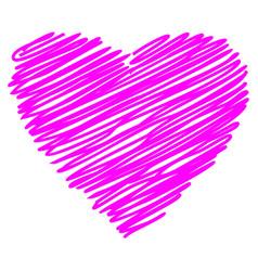 heart line hand drawn sketch vector image