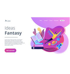Ideas and fantasy concept landing page vector