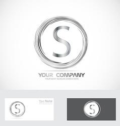 Letter S logo silver vector